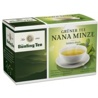 Bünting Tee Grüner Tee Nana Minze, 20 vrečk